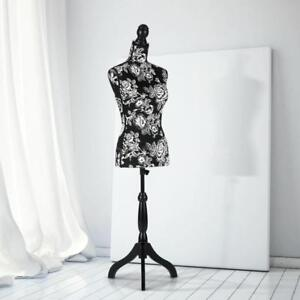 Female Mannequin Dress Form Torso Dressmaker With Wood Tripod Stand Display C8r4