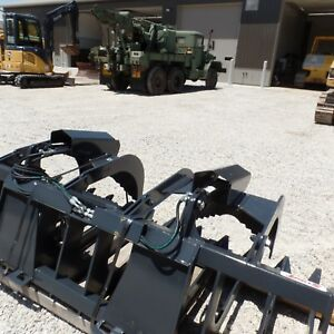 New 84 Hd Root Brush Grapple Bucket 2 Cylinder Open Bottom Usa Made Attachment
