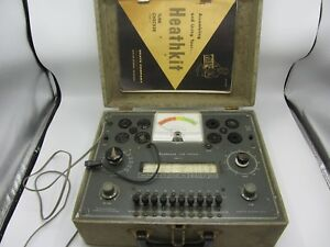 Vintage Heathkit Tc 2 Tube Tester With Manual Powers On Untested As Is