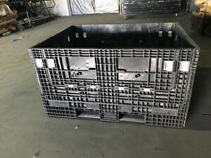 65x48x34 Pallet Box Storage Container Automotive Bin Collapsible Ropak Knockdown