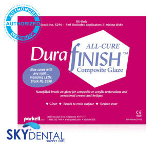 Parkell S296 Durafinish All cure Composite Glaze Accessories 5 Ml Clear