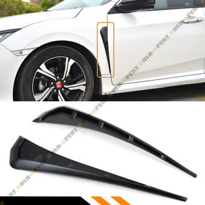 For 2016 2021 Honda Civic Type R Style Front Fender Side Air Vents Covers Trim