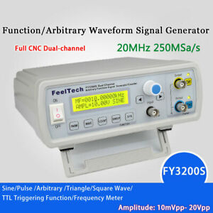 Fy3200s 20mhz 2ch Digital Dds Function Signal Generator Frequency Counter U4e9