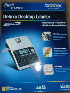 P touch Pt2030 Deluxe Desktop Labeler new