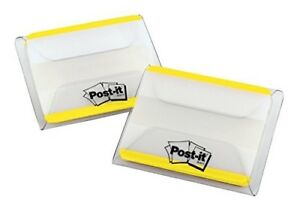 Post it Tabs 2 In Solid Yellow Durable Writable Repositionable