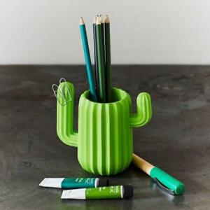 Creative Multifunction Cute Cactus Shaped Magnetic Pen Holder Pencil Home Office