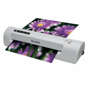 Scotch Thermal Laminator 2 Roller System Pouches pack letter sheet photo Chart