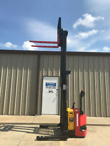 2006 Raymond Rss40 Walk Behind Forklift Straddle Very Nice Double 128 3750lb