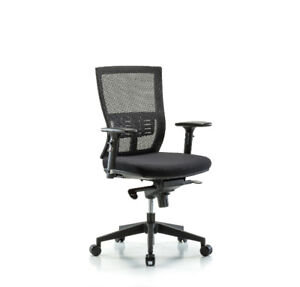 Modern Mesh Desk Height Chair Nylon Base Knee Bend 3d Arms Casters 1 Ea