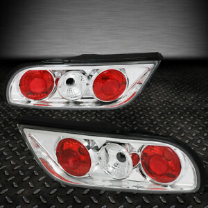 For 89 93 Nissan 240sx Fastback S13 Pair Chrome Housing Tail Light Brake Lamps
