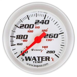 Equus 8242 2 Mechanical Water Temperature Gauge White With Aluminum Bezel New