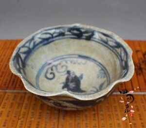Chinese Old Porcelain Ornaments Blue And White Bowl