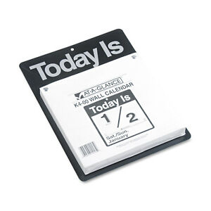 At a glance Today Is Wall Calendar 9 3 8 X 12 White 2019 K400