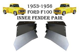 1953 1954 1955 1956 Ford Truck F100 F 100 Pickup Front Inner Fenders New Pair