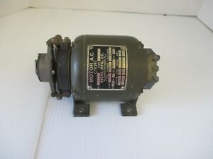 Diehl Mfg Co Small Motor A c C78291 1 40th Horse Power Made In Usa