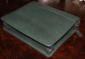 7 2 Ring Top Grain Leather Classic Teal Blue Franklin Quest Covey Zip Planner