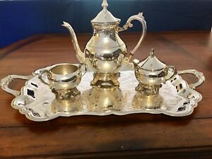 Fb Rogers 5 Pc Silver Plate Coffee Or Tea Service Set