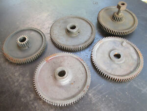 Lot Of 5 Assorted South Bend Lathe Change Compound Banjo Gears Free Ship