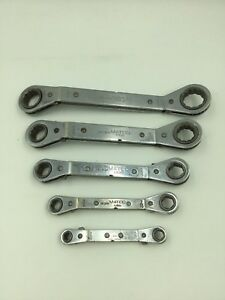 Matco Tools Sae Ratcheting Offset Box End Wrenches 5 piece Mixed Set wrd