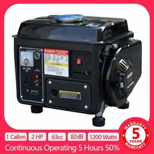 Portable Gasoline Gas Generator 1200w Emergency Home Back Up Power Camping 2hp