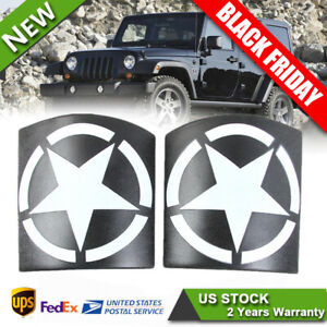 2x Cowl Body Armor Cover Sport Exterior Accessories For Jeep Wrangler Jk Jku 17