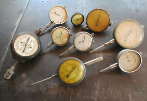 Wholesale Lot Of 9 Assorted Dial Indicators American Made Free Shipping