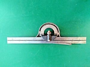 Starrett No 12 Protractor Head With No 16r 12 Blade