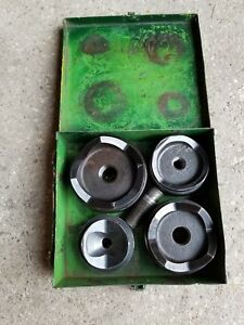 Greenlee Conduit Knockout Punch Set 2 1 2 To 4 Metal Case