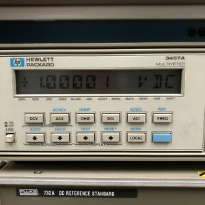 Hp 3457a Digital Multimeter 6 5 7 5 Digit Front Rear Terminals Very Clean