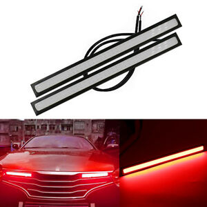 1pc 17cm Thin Led Cob Waterproof Daytime Running Fog Light Car Accessories New