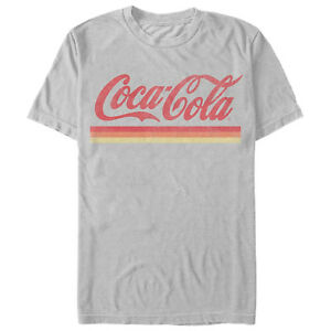 Coca Cola Retro Sunset Stripes Mens Graphic T Shirt