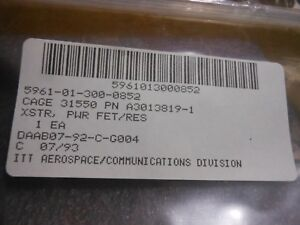 Itt Transistor Set Kit Part A3013819 1 Nsn 5961 01 300 0852 Xstr Pwr Fet res