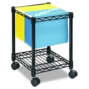 Compact Mobile File Cart For Letter Or Legal Size Folders Sold Separately Black
