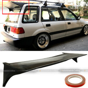 For 88 91 Jdm Honda Civic Wagon 5dr J Style Rear Trunk Lip Roof Wing Spoiler