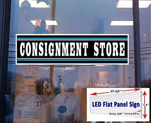 Consignment Store Led 48x12 Window Sign Neon Banner Alternative New Gen Leds