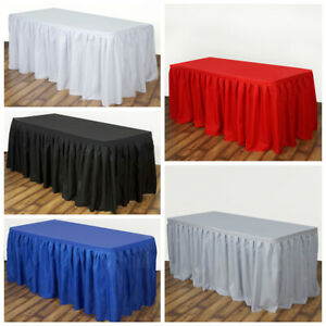 21 Feet X 29 Polyester Banquet Table Skirt Wedding Party Linens Wholesale