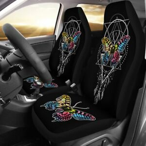 Butterfly Feather Car Seat Covers Butterfly Lover Set Of 2 Front Seat Covers
