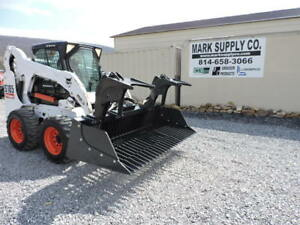 New Cid Xtreme 72 Rock Grapple Bucket For A Skid Steer Loader Bobcat Case Cat