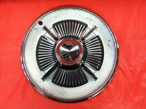 Vintage 1965 Ford 15 Spinner Hubcap Galixie Fairlane Hd Xl Flipper Fomoco
