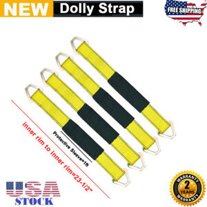 2 X 24 Axle Strap With D Ring Car Strap Tie Down Tow Strap 4 Pack