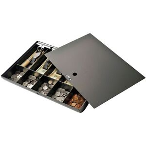 Cash Drawer Tray With Locking Cover Black 1 quantity Business Bank Money