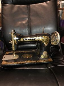 Vintage Singer Sewing Machine Without Cabinet Decorative Serial G6327937