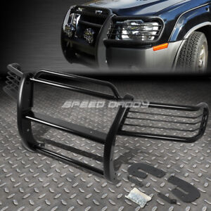 For 02 04 Nissan Xterra Wd22 Black Coated Mild Steel Front Bumper Grill Guard