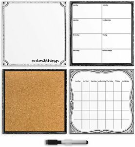 Dry Erase Board Calendar Weekly Planner Notes Board Cork Board Organizer Set New