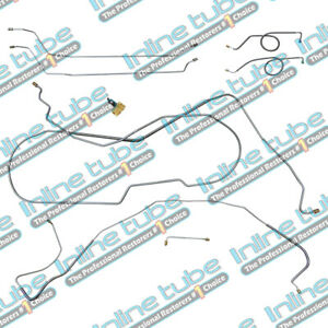 66 Chevelle Ss Hdt Power Drum Disc Dual Conversion Brake Line Set Stainless