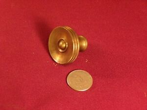 Antique Solid Brass Drawer Or Cabinet Pull Knob Hardware 1 3 8