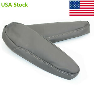 Gray Leather Armrest Arm Rest Cover Upholstery For 2005 2010 Honda Odyssey