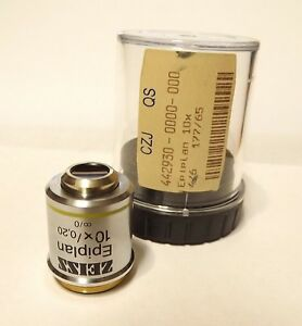 Zeiss Epi plan 10x Infinity Corrected Microscope Objective Lens Rms Epiplan