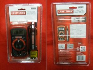 Craftsman Digital Multimeter With Free Ac Voltage Detector Free Shipping