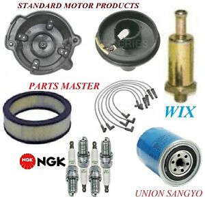 Tune Up Kit Filters Cap Spark Plugs Wire For Ford Pinto L4 2 3l 2bbl 1979 1980
